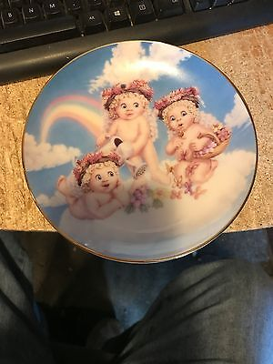 The Hamilton Collection---BLOSSOMS AND BUTTERFLIES---Dreamsicles Plate-Numbered