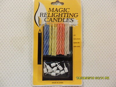 10 Pack Magic Candles Relighting Birthday Cake Party Trick Novelty Fun Trick Gag