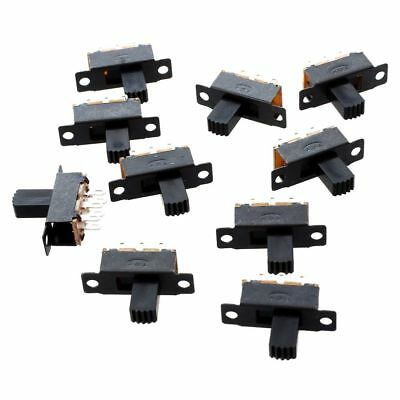H1 10 Pcs 6 Pins 2 Positions DPDT On/On Mini Slide Switch