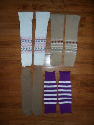 Lot of 4 Pairs of Vintage Leg Warmers