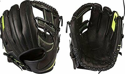 "$130 NIKE MVP Youth Edge Baseball Glove 11.50"" BF1722-010 Black/Volt Leather1"