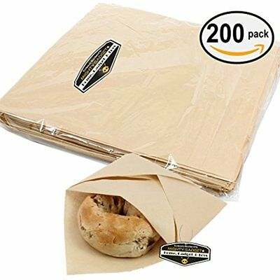 "Mighty Gadget (R) 200 Sheets / 12 X12"" Natural Kraft Food Paper Liners Wrapping"