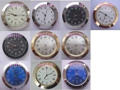 """37mm fit 34mm or 1, 5/16"""" hole/ Clock/Watch Insert 10% off addl/ free spare batt"""