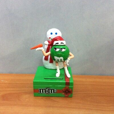 M&M's Green Mini Candy Bank - Excellent Condition