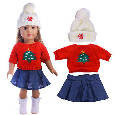 New Doll Accessories Doll Clothes Sweater Set For 18inch American Girl Doll GT