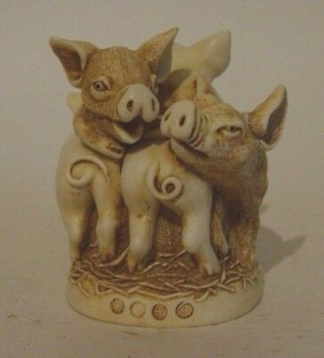 "Harmony Kingdom Figurine ""Hog Heaven"" U.K. MADE PIGS"