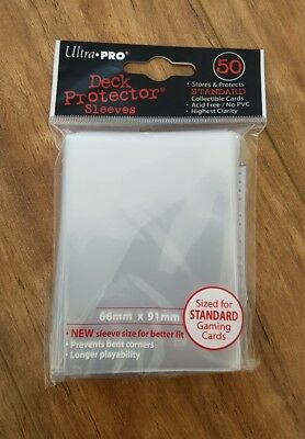 Ultra Pro Deck Protector Sleeves  - 50 pack - MTG - Pokemon Standard Size Clear