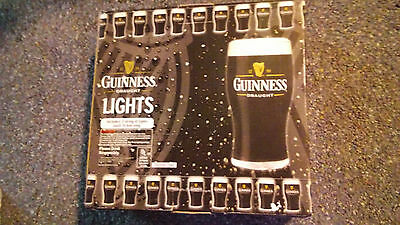 NEW!!! GUINNESS DRAUGHT BEER INDOOR USE STRING LIGHTS FOR BAR 30 FEET (2x15 FT).