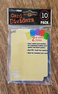 Ultra Pro Card Dividers - 10 pack - Multi Colour