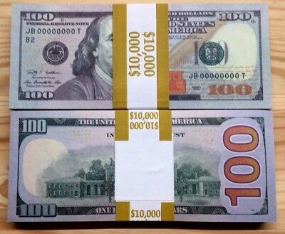 100 Pcs United States Invalid $100 High Quality Realistic Best Fake Paper Money