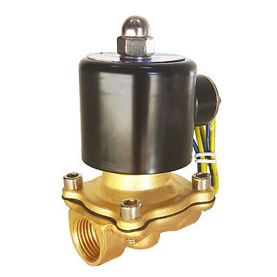 """HFS(R) 12V Dc 1/2"""" Electric Solenoid Valve Water Air Gas, Fuels N/C"""