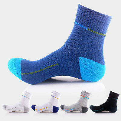 Men Thick Cotton Sports Crew Socks Casual Dress Running Business Ankle Sox 7-11
