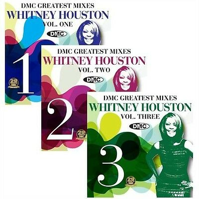 Whitney Houston The Greatest Dmc Mixes Vol 1 2 3  Brand New Dj Remix Service Cd