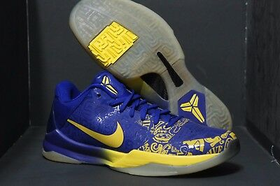 new style ffbbc 47914 Promo Nike Zoom Kobe V 5 Rings Ceremony sz 8 Purple Yellow 386429-702 MVP