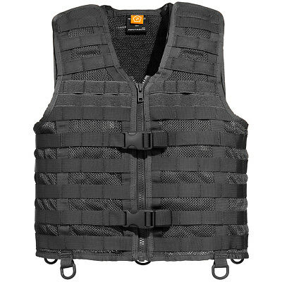 Pentagon Thorax 2.0 Mesh Vest Tactical Webbing Rig MOLLE Paintball PALS Black