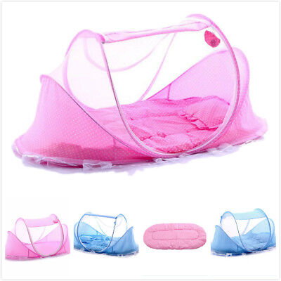 Baby Mosquito Net Infant Kids Foldable Canopy Tent Camping Travel Bed Cot Pop Up