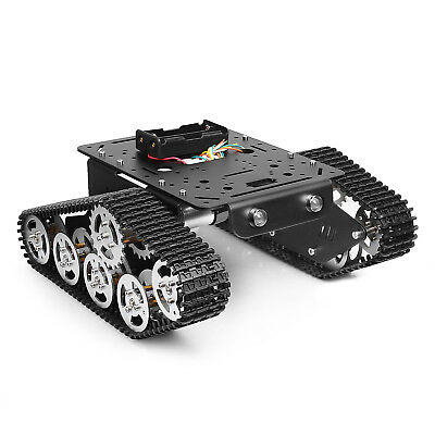 Tracked Robot Smart Car Platform Metal Tank Chassis Dual DC 9V Motor US Stock