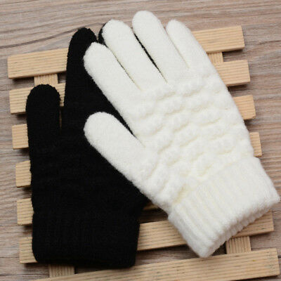 Magic Women Stretch Knitted Wool Touch Screen Mittens Winter Keep Warm Gloves