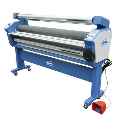 "USA! 110V 55"" Full-auto Low Temp Heat Assisted Wide Format Cold Laminator +Stand"