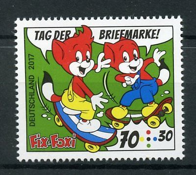 Germany 2017 MNH Stamp Day Fix & Foxi 1v Set Cartoons Comics Stamps