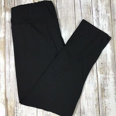 Simply The Best Solid Black Leggings Butter Soft  OS TC Plus S/M L/XL Yoga Style
