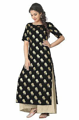 Indian Bollywood Kurta Kurti Designer Women Ethnic Dress Top Tunic Pakistani-79