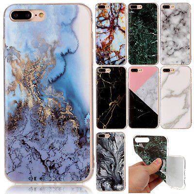 Ultra Slim Marble Pattern Rubber Soft TPU Back Case Cover For iPhone 6s 8 7 Plus