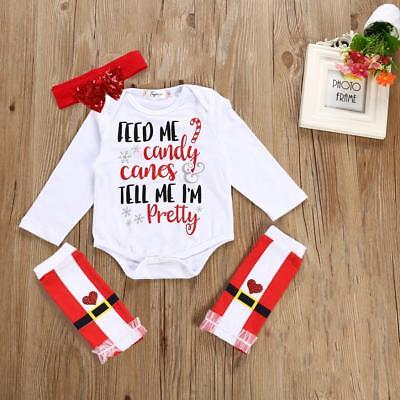 Baby Girls Boys Cotton Clothing Set Outfit Bodysuits Babygrow Set