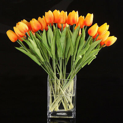 10pcs Tulip Flower Latex for Wedding Bouquet Decor (orange tulip) PK K3F6 K2Y0