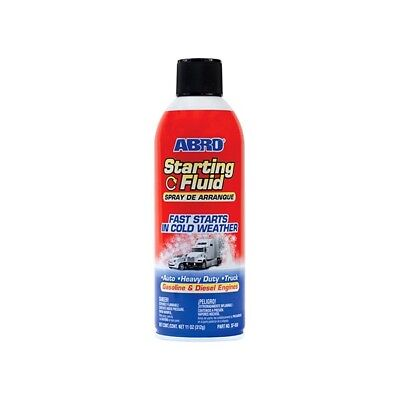 ABRO Starting Fluid Spray -Fast starts in Cold Weather -Gasoline & Diesel Engine