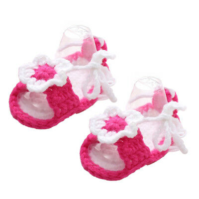 5X(Hand knitted baby Girl booties,Baby shower gift,Baby prop Newborn Prewal Q7R3