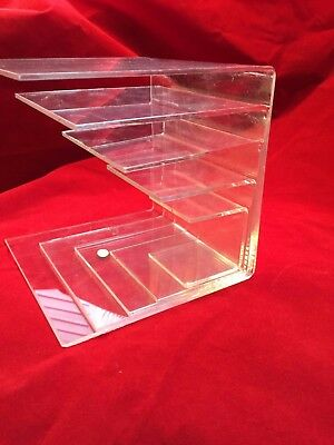 5 Display Riser Stand Acrylic plexiglass Lucite Toy Jewelry Gifts Showcase 1 set
