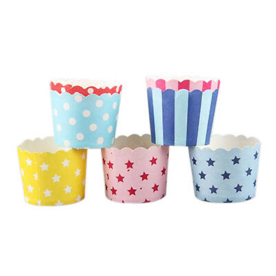50pcs Color/pattern Random Paper Baking Cups Muffin CEANake Packing cups P6 J1B1