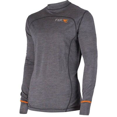 FXR 100% Merino Vapour Long Sleeve Mens Cold Weather Snowmobile Base Layer Shirt