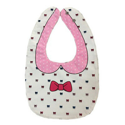 Bow tie double-sided cartoon buckle baby red bow baby mouth towel white A5P W8Y5