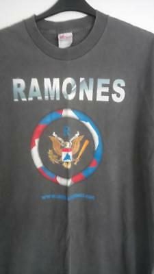 Vintage Ramones T Shirt With Back Print Size Xl