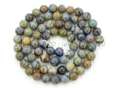 Natural Sunset Dumortierite Jasper Gemstone Round Spacer Beads 16'' 4mm 6mm 8mm