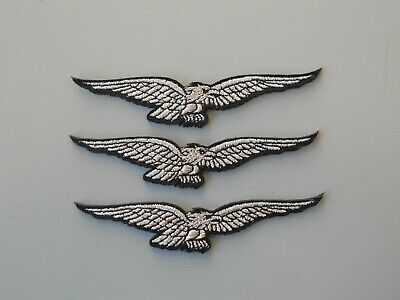 Patch  Moto Guzzi Aquila Argento N.3 Toppe Ricamate Termodesive Cm 10X2