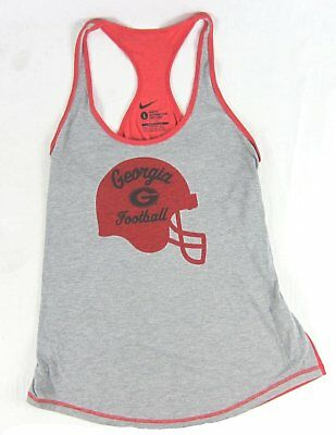 Nike - Licensed UGA Georgia Football Gray Red Tank Top - Women s Large-XL acbbd7225