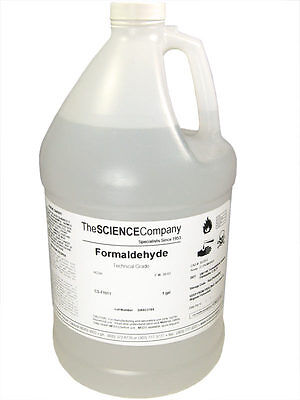 NC-0428  Formaldehyde (Formalin), 37%, 1 Gallon, preservative, Free Shipping!