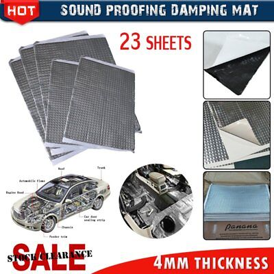 SALE 4mm 23 Sheets Silent Coat Extra Bulk Pack Car Deadening Sound Proofing Mat