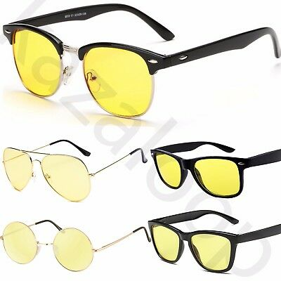 Selection Of Yellow Fashion Glasses Sunglasses / Night Driving Glasses