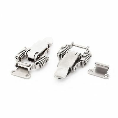 2x Toolbox Draw Compression Spring Toggle Latch Catch Clamp Silver U3Q9 J2R A0J7
