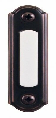 Door Bell Push Button Hampton Bay Lighted Brass Wired Chime Bronze Finish New