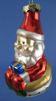 Santa Glass Christmas Tree Ornament Thomas Pacconi Museum Series Inner Tube Gift