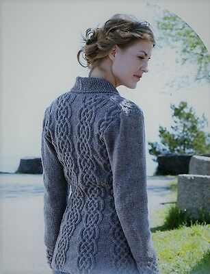 Mens Classic Style Aran Cable Cardigan Knitting Pattern Sizes S M