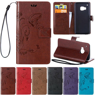 For HTC ONE M8 M9  Card Wallet Holder Flip Leather Shockproof Stand Case Cover