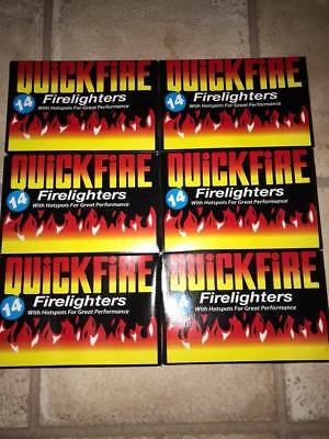 6 x boxes of 14  fire lighters b b q log fires open fires burners free post