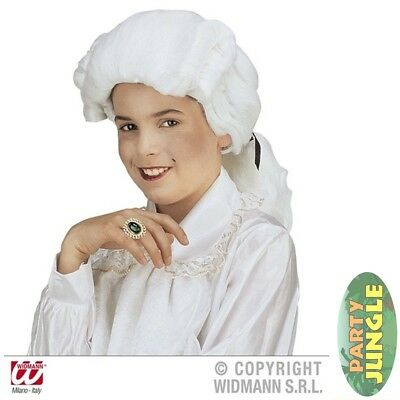 LITTLE LORD WHITE COURT BAROQUE WIG Childs Fancy Dress Accessory