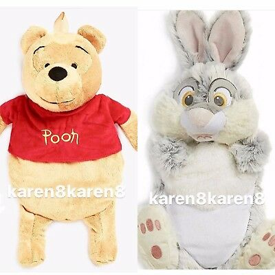 Primark DISNEY POOH BEAR or THUMPER RABBIT Hot Water Bottle and Cover